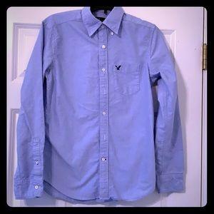 American Eagle Blue LS dress shirt S and XS